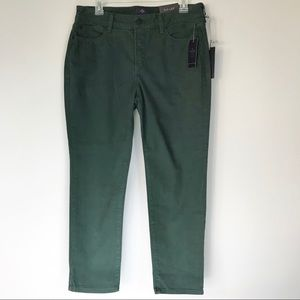 NWT NYDJ Green Ankle Jeans size 10P